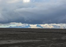 Paisaje volcánico de Holuhraun, montañas de Islandia, Europa imagen de archivo