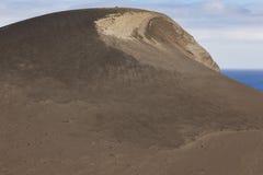 Paisaje volcánico de la costa costa de Azores en la isla de Faial DOS Capelinhos de Ponta Imagen de archivo