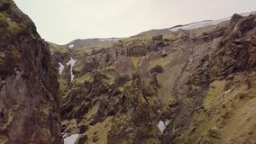 Paisaje volcánico en Islandia almacen de video