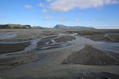 Paisaje volcánico en Islandia central del sur Fotos de archivo