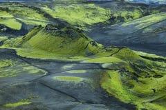 Paisaje volcánico en Lakagigar Foto de archivo
