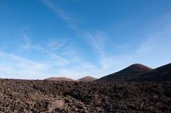 Paisaje volcánico en Lanzarote Imagenes de archivo