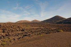 Paisaje volcánico en Lanzarote Fotos de archivo libres de regalías