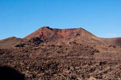 Paisaje volcánico en Lanzarote Foto de archivo