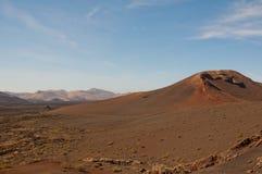 Paisaje volcánico en Lanzarote Fotos de archivo