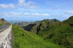 Paisaje volcánico - Sierra Malagueta, Cabo Verde, Santiago Island fotos de archivo