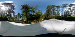 Paisaje vr360 Indonesia de la selva tropical almacen de metraje de vídeo