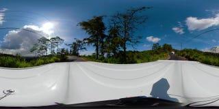 Paisaje vr360 Indonesia de la selva tropical almacen de video