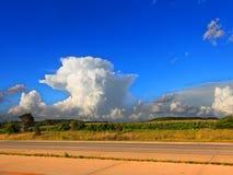 Paisaje Wisconsin de la tempestad de truenos del Supercell Fotos de archivo