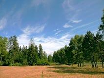 Paisaje y cielo durante días de verano Fotos de archivo