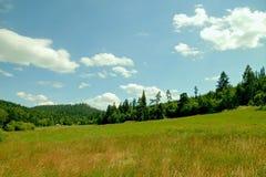 Paisaje y cielo durante días de verano Imagenes de archivo