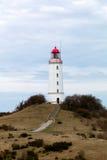 Paisaje y faro Dornbusch en la isla de Hiddensee, Alemania Imagenes de archivo
