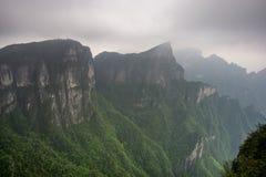 Paisaje y punto de vista de la montaña de Tianmen foto de archivo