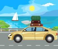 Paisaje y viaje stock de ilustración