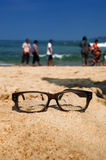 Paisaje y vidrio Fotos de archivo libres de regalías