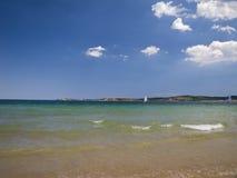 Paisajes búlgaros de la playa – playa hermosa Fotos de archivo