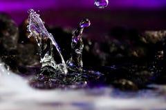 Paisajes coloridos y creativos de la gota del agua Fotos de archivo libres de regalías