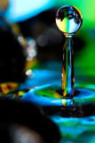Paisajes coloridos y creativos de la gota del agua Fotografía de archivo libre de regalías