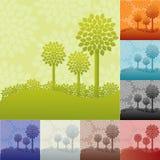 Paisajes con los árboles Fotos de archivo