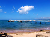 Paisajes de la playa Foto de archivo libre de regalías