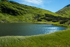 Paisajes de las montañas y del lago mountain Fotografía de archivo libre de regalías