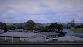 Paisajes de Papakura, Nueva Zelanda foto de archivo libre de regalías