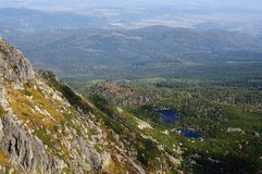 Paisajes de Polonia de las montañas de Karkonosze fotografía de archivo