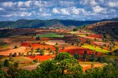 Paisajes del Estado de Shan Imagen de archivo libre de regalías