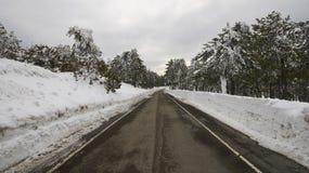 Paisajes del invierno de Chipre fotos de archivo libres de regalías