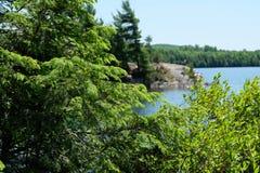 Paisajes del lago, Estrie, Canadá Fotografía de archivo libre de regalías