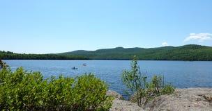 Paisajes del lago, Estrie, Canadá Imágenes de archivo libres de regalías