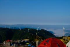 Paisajes en el top de la montaña fotos de archivo