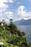 Paisajes escénicos del lago Como Imagenes de archivo