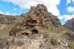 Paisajes hermosos de Barranco del Infierno en Tenerife Foto de archivo libre de regalías