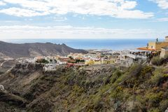 Paisajes hermosos de Barranco del Infierno en Tenerife Fotos de archivo libres de regalías