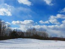 Paisajes magníficos del invierno en un día soleado Fotos de archivo libres de regalías