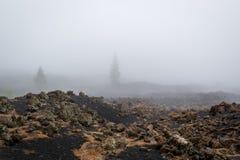 Paisajes marcianos del misterio en el volcán de Chinyero fotos de archivo libres de regalías