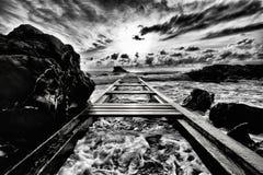 Paisajes marinos toscanos Foto de archivo libre de regalías