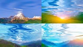 Paisajes reflejados en agua Imagen de archivo