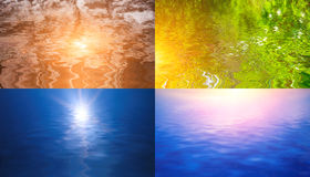 Paisajes reflejados en agua Fotografía de archivo