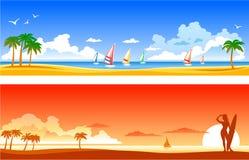 Paisajes tropicales stock de ilustración