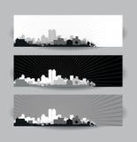 Paisajes urbanos ilustración del vector