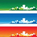 Paisajes urbanos stock de ilustración
