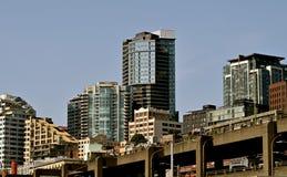 Paisajes urbanos de Seattle fotografía de archivo