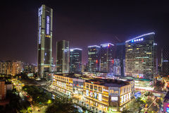 Paisajes urbanos de Shenzhen Fotos de archivo libres de regalías