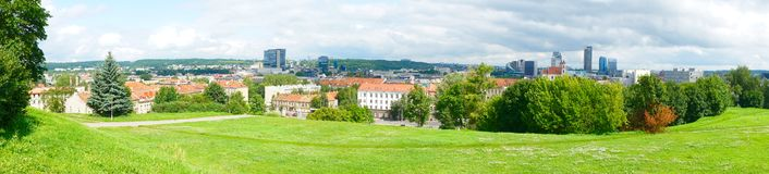 Paisajes urbanos de Vilnius Imagenes de archivo
