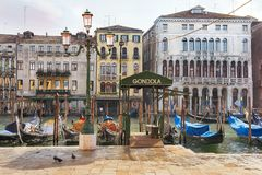 Paisajes urbanos pintorescos y románticos de Venecia Foto de archivo
