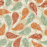 Paisely Vintage Seamless Pattern Stock Photos