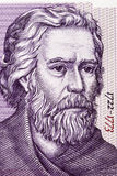 Paisius de portrait de Hilendar d'argent bulgare Images stock