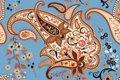 Paisley. Background with paisley seamless pattern - vector illustration royalty free illustration